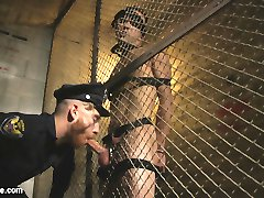 Officer Keys caught Max Woods jerking his cock in public, and takes the pervert back to the...