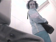 Three chicks get unlucky to pee in spycammed toilet