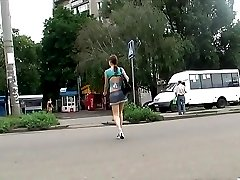 Enticing street ups from amateur teen gal