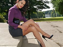 Sexy Maria is new to the site and she fully understands mens feelings for ladies shoes. A womans...
