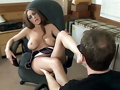 Savanna Jane gives her man a footjob and gets her pretty feet worshipped in this scene