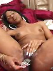 Strokahontas plays with her pussy like a pro