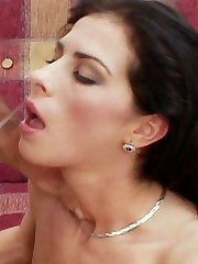 Hardcore sex scene with dark haired pornstar Vanessa Romana