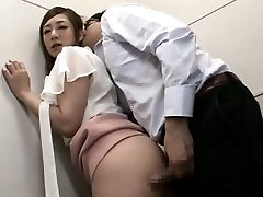 Minori Hatsune Asian with one boob exposed PublicSexJapan.com