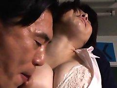 Rin Ogawa Asian teacher has nipples bitten by JpTeacher.com