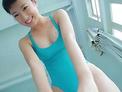 softcore asian leotard exercise tease