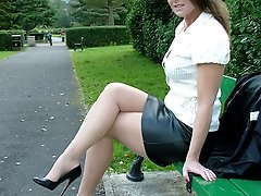 Black high heels always look amazing when they are worn outdoors