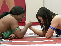 Lea Lexis takes on season 12 rookie cup finalist, Lisa Tiffian in an extremely full competitive erotic wrestling match. These girls give everything they've got. No one wants to go home a loser. Stakes are high on Ultimate Surrender. If you lose, you must offer up a hole. Humiliation, Anal, Lift and Carry. This match is what Summer Vengeance is all about.
