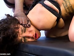 In the final scene from this shoot, lovely young slut Bianca Stone gets her ass dominated by her...