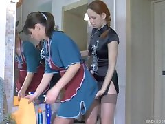 Lesbian Punished The Cleaning Lady