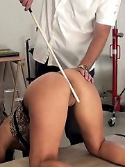A caning usually whips these girls into shape. Especially when its brought down hard on Katty\'s pussy.