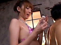Tsubasa Amami Asian rubs cock with her cunt JpShavers.com
