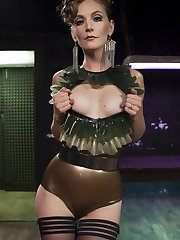 Electrodomme Mona Wales takes full advantage of pain slut Pinks unnaturally high tolerance for...