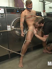 Its a quiet day at the laundromat -- just Connor Patricks and two pervs who wont stop checking...