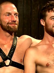 Adam Herst drags in his bound stud, Brandon Moore and begins tearing away his clothes. He...
