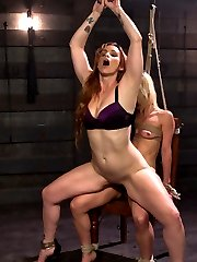 An article on lesbian sex positions inspires Bella Rossi\'s sadistic lesbian fantasies as a casual pedicure turns into a perverted fantasy. Take a look into the sadistic perverted desires for crazy lesbian sex positions, bondage, flogging, spanking, fingering, nipple clamps, pussy licking, tons of strap on vag and anal.