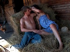 The farm is the perfect location for these teen lovers today. They cant get enough of each other...