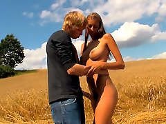 This farm field is the location for these horny teens. As soon as they realized they were all alone in this field, their clothes started coming off and they had raw, passionate sex.