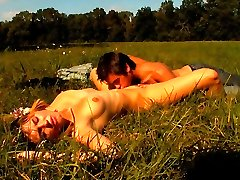 Under the warm sun, this teen cutie gets her tender pussy fucked from behind. He pushes his cock...