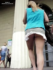 Accidental public upskirt