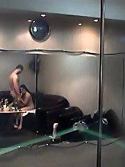 A nasty fucking couple filmed by spy cam
