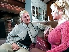 Horny MILF takes on young guy