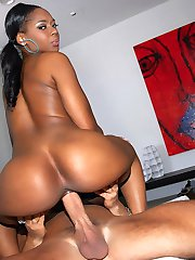 Smoking hot big black ass ebony babe nailed hard adjacent the couch hot screaming cum faced real...