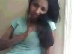 Shy afghan teen teasing bf on webcam shows of her nice tits