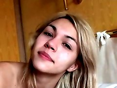 Hot blonde woke up by cock