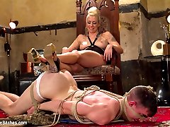 Mistress Lorelei Lee is sex in heels. Her beauty is devastating and new slave sausage Artemis Faux can barely stand the intensity. His dick stands on end and she is relentless in her punishing teases. In the end she gets what she wants; a Divine Bitch ALWAYS does.