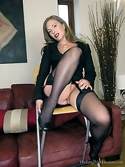 Tights Worship Footjob