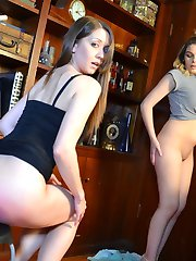 Veronica Spanks Chrissy and Cora