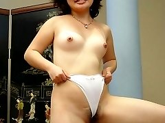 Kimburly humping a cock and taking it in her bushy muff and let it unload all over her pubes