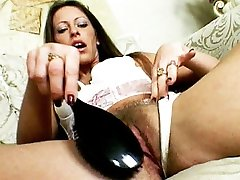 Stunning Liza Harper had her wooly pussy stretched getting it pulverized by an enormous beef whistle