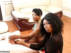 Bust a Plums for Us - Multiracial Hand Jobs Ebonytugs.com