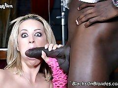 Michelle Sweet Gangbanged By Big Black Bruthas at Blacks On Blondes!