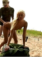 Army nude conditioning and strapon sex
