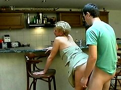 Randy milf getting her insatiable twat packed to the brims by younger guy