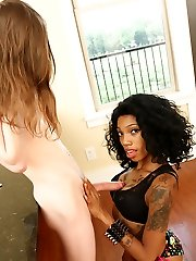 Amani Loves Wanking Big Cocks - Interracial Arm Jobs Ebonytugs.com