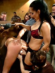Bianca is a filthy slut who craves the attention of strangers hands all over her body. Guest star Isis love and Princess Donna makes sure that she gets it hard! The shoot contains 3 different device bondage positions, plenty of hard ass fucking, electricity, and more.