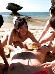 Japanese AV Model and chicks with hot cans OutdoorJp.com