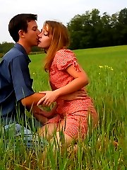 In the soft grass of this field, this teen has her soft pussy penetrated and pounded. She looks so innocent, but loves a good hard fucking deep inside of her.