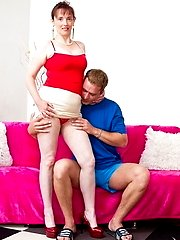 This naughty housewife loves to play with her toy boy