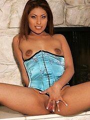 Naughty Latina MILF Lena Juliett spreads her vulva wide to take rock-hard cock pounding