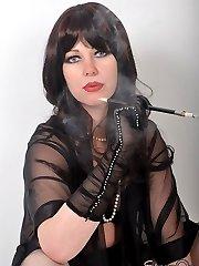 Femdom Helga looks so seductive as she smokes