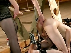 Sultry chick treating a guy like her sex toy in mind-blowing strap-on fuck