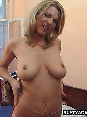 Big tit blonde has assfucking sex
