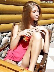 Erotic photo sesh of sexy upskirt