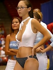 Superb divide is voyeured on cam in public places