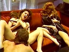 Jacqueline, Leanna Foxxx, Steve Drake in lesbian orgy and a 3 way from hot porn 1980